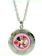 Disney Minnie Mouse Necklace marbel locket with gift poch birthday LC35