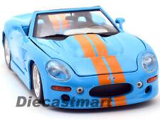 Maisto 1:18 de Metal Shelby Serie 1 Azul Dorado Rayas