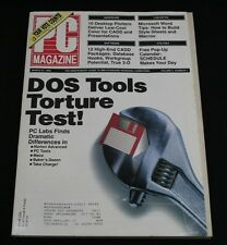 PC Magazine March 27 1990 Vol 9 #6 DOS Tools Torture Test Norton Advanced CADD