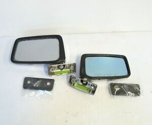 1-Pair OUTSIDE REAR VIEW MIRRORS, used, chrome, 1986 Nissan D21 Pickup, '86-'94