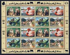 UN GENEVA . 1998 Endangered Species . Complete Sheet . Mint Never Hinged