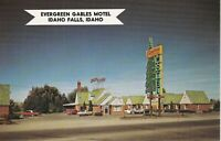 Idaho Falls, ID - Evergreen Gables Motel - Street View of Exterior and Signage