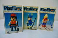 70s VINTAGE PLASTIBOY SIMIL PLAYMOBIL 3 ARTICULATED FIGURES ARGENTINA