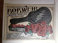 Bob Weir Solo Acoustic Winter Tour Poster Feb/March 2013 Grateful Dead