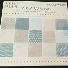Simply Creative Frosted Winter Paper Pad Card Making 30 Sheets 15 Designs x 2