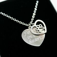 Personalised Pet Loss Necklace Memorial Pendant Any Engraving Keepsake Gifts