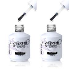 GEL LAB No-wipe Top Coat & Base Coat UV LED Gel Nail Polish Soak Off Cured Nail