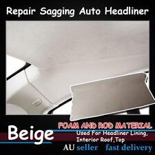 1.51M x 2.5M Beige Renovate Auto UTE Headliner Fabric Lining Upholstery 3mm Foam