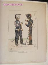 PL020 - PLANCHE JOB - TROMPETTE ARTILLERIE A CHEVAL GARDE IMPERIALE 1813