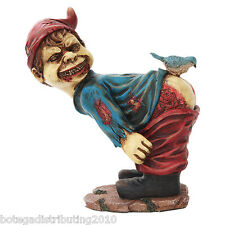 Zombie School Boy Garden Gnome Statue Undead Figurine Skeleton Moon Butt