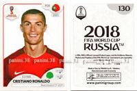 """RARE !! CRISTIANO RONALDO Sticker """"WORLD CUP RUSSIA 2018"""" Panini"""