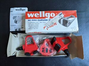 "Wellgo Action RC-9203 Clipless Pedals Red 9/16"" x 20 TPI Pair New"