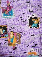 Fashion Scrubs Fun Womens Halloween Cartoon Zombie Ghost Purple Top Nurse Med XL