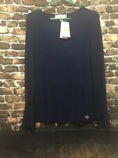 NWT MICHAEL KORS TOP SIZE M  NAVY MSRP$99