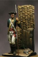 American Officer of Continental Army 54mm 1/32 Tin Painted Toy Soldier | Art