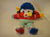Vintage 1986 Mattel Popples Touch Down Football Sports Plush Stuffed Toy