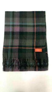 Joules Womens Bracken Heritage Checked Warm Soft Scarf Dark Green Check One Size