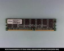 Elixir M2U25664DS88B3G-5T DDR 256MB PC-3200 Non ECC 400Mhz RAM Memory