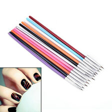 12 Pcs Colorful Nail Art Design Brush Pen Fine Details Tips Drawing Paint Set SM