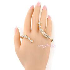 Adjustable CZ Crystal palm bracelet bangle hand cuff palm cuff handlet R214