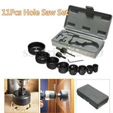11Pcs DIY Metal Drill Hole Saw Kit Set 19-64mm Wood Thin Metal Sheet Thin Alloys