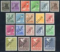 BERLIN 1948, MiNr. 1-20, postfrisch, II. Wahl, gepr. Schlegel, Mi. 380,-
