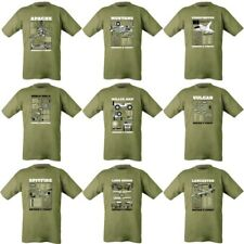 MENS MILITARY T-SHIRT ARMY WW1 WW2 APACHE SPITFIRE TYPOHOON WILLYS JEEP MUSTANG