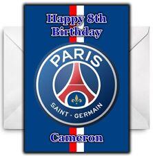 PARIS SAINT GERMAIN PSG Personalised Birthday / Christmas / Card - Large A5
