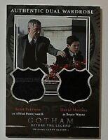 Gotham Season 1 Dual Wardrobe Relic Sean Pertwee & David Mazouz Alfred/Bruce
