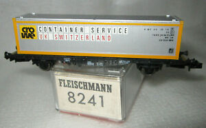 FLEISCHMANN 8240 N PICCOLO DB CROWE CONTAINER SERVICE WAGON TYPE LBS NEW Ep IV