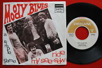 """MOODY BLUES RIDE MY SEA-SAW/SIMPLE GAME 1968 UNIQUE RARE EXYU 7"""" PS"""