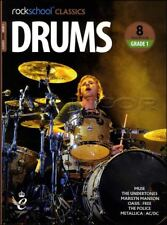 Rockschool Classics Drums Grade 1 Sheet Music Book/Audio Muse Oasis Police Free