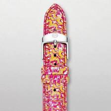 Michele 18Mm Yellow Multi Fashion Patent  Strap MS18AA350702