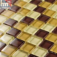 MOSAICO DE VIDRIO AZULEJOS Amarillo Marrón Crema 29 , 5x29, 5cm Baño Cocina