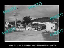 OLD LARGE HISTORIC PHOTO OF ALBANY WA, THE CALTEX OIL SERVICE STATION c1960