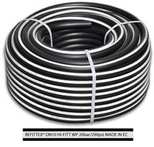 Druckluftschlauch 10 Mm X 2 5mm 50m schwarz flexibel Luftschlauch Gewebeschlauch