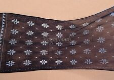 Pretty Soft Egyptian Assiut Assuit Tulle Black Wide Shawl Wrap Veil HOT SALE