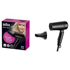 Braun Satin Hair StyleundGo Haartrockner kompakter Föhn Ionen Technologie IONIC