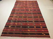 Antique Turkish Kilim Rug shabby vintage, boho old wool Kelim 300x162 cm Large