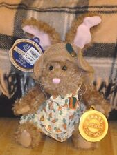 """Pickford Brass Button Bears Easter Bunny rabbit Flora 12"""" new with tags"""