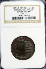 New listing 1795 - Ngc F15 Bn G.Brit D&H - 6 1/2P Dorsetshire - Poole Token! #B16317