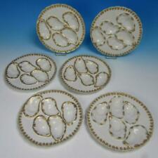 Haviland Limoges China - 6 Individual Oyster Plates - 5 Wells - 8 inches