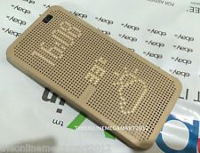 New Golden DOT View Smart Interactive Flip Case,Cover for HTC One E8 Dual Sim