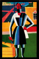 CARPENTER by Kazimir Malevich Modern Russian postcard