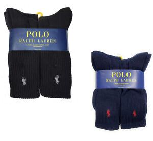 Polo Ralph Lauren Men's Classic Sport Cushioned Cotton Crew Socks 3 or 6 Pairs
