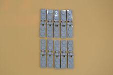 Lego 10 par placa 1x2 clip perpendicular neuhell gris newlight Grey 63868 60478