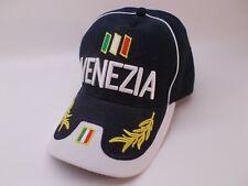 Venezia Dark Blue Hat Embroidered Adjustable Baseball Cap