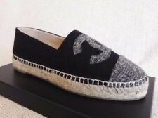 CHANEL ESPADRILLES NAVY GREY 40 9 WOMAN 17B FLATS SHOES SPRING CC SUMMER