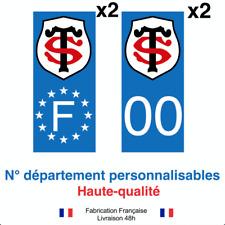 Stickers autocollant plaque d'immatriculation Stade TOULOUSAIN voiture BLEU