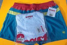1 Each Nwt Boast Men's Tennis/Swim Trunks Xl Lined Orange/Blue/Yellow & T Shirt